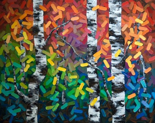 Original Acrylic Aspen / Birch Tree Painting on Canvas by Contemporary Canadian Artist Melissa McKinnon, Calgary artist, Canadian artist, Calgary painter, Calgary paintings, Birch Tree Painting, Birch Tree Paintings, Aspen Tree Painting, Aspen Tree Paintings, Calgary Fine Art, Calgary, Alberta, Canada, Canadian Rocky Mountains, Banff, Canmore, Lake Louise, Red Deer, Edmonton, Victoria, Vancouver, Winnipeg, Regina, Montreal, Toronto, Halifax, Ottawa, Aspen, Colorado, local artist, original paintings, landscape paintings, acrylic paintings, birch tree acrylic paintings, tree paintings, aspen tree acrylic paintings, abstract paintings, abstract, modern, contemporary, fine art, art, art gallery, contemporary landscape painting, contemporary landscape artist, contemporary art, contemporary painting, aspen artist, Melissa Mckinnon, Aspen paintings, Aspen tree forest painting, Autumn Aspen trees, spring aspen birch trees, summer aspen birch trees, winter aspen trees, summer, spring, fall, autumn, winter, Aspen forest, Aspen landscape, Aspen tree art, Aspen tree artist, Autumn Aspens, Autumn birches, Aspens, Autumn leaves, Birches, big paintings, large paintings, impasto, thick paint, paintings with texture, palette knife, birch art, birch paintings, landscape painting commission, Painting Commission, Aspen fine art, red painting, aqua, teal, turquoise, yellow painting, gold, green painting, black and white, fuschia, brown painting, orange, blue painting, black, white, bright colors, bright painting, colorful painting, colourful, warm colors, cool colors, paintings for sale, home decor trends, art gallery, art exhibit, new paintings, art shows, custom paintings, painting commission, paintings for sale, art prints, art reproductions, giclee prints, greeting cards, art greeting cards, custom painting, custom greeting cards, aspen birch tree greeting cards.