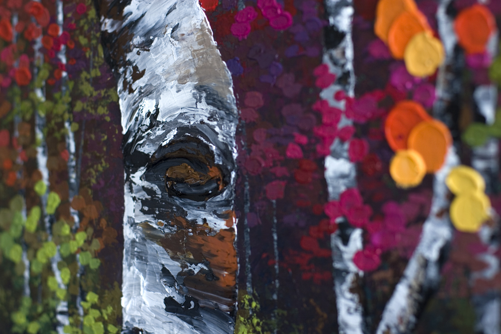 """""""In This Moment"""" (Detail Image) 24″×36″ Original Acrylic"""