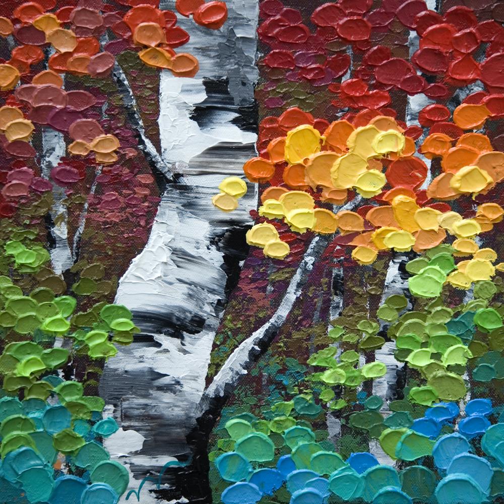 jewel trees 12 12 original acrylic aspen birch tree