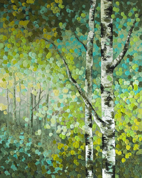 little seeds original acrylic aspen birch tree acrylic
