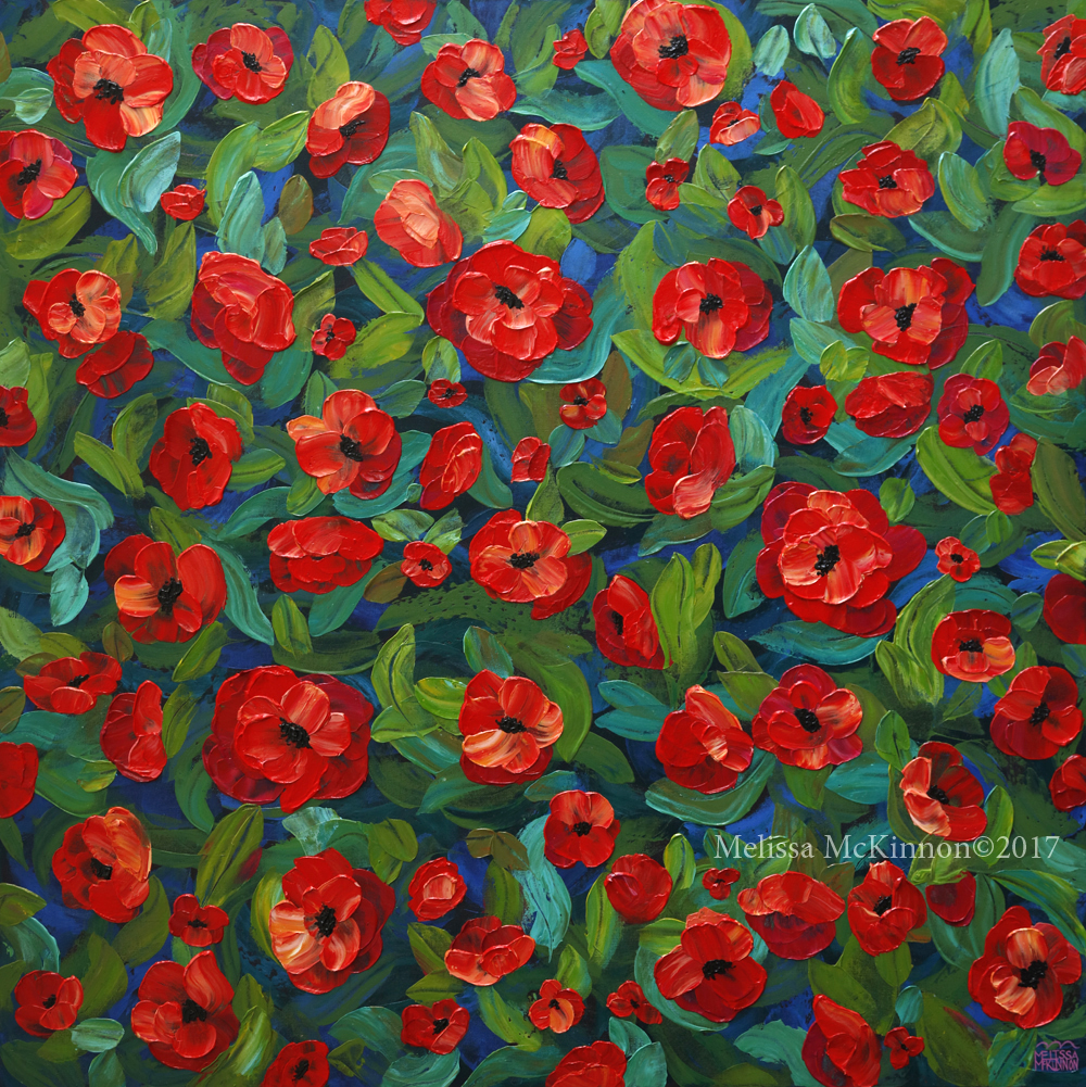 Beautiful Red Poppy Flower Painting And Floral Art By Contemporary