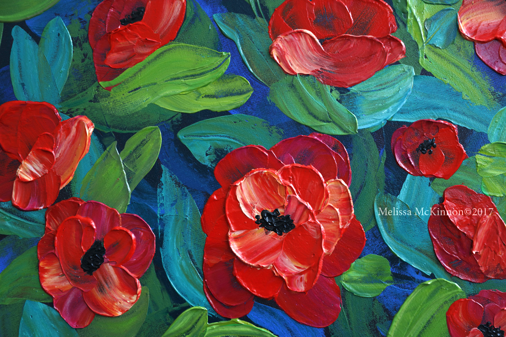 Beautiful red poppy flower painting and floral art by contemporary beautiful red poppy flower painting and floral art by contemporary artist painter melissa mckinnon poppies in bloom mightylinksfo