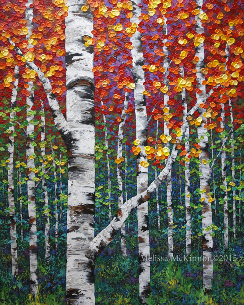 Fall in love with autumn new colourful fall birch and for Autumn tree painting