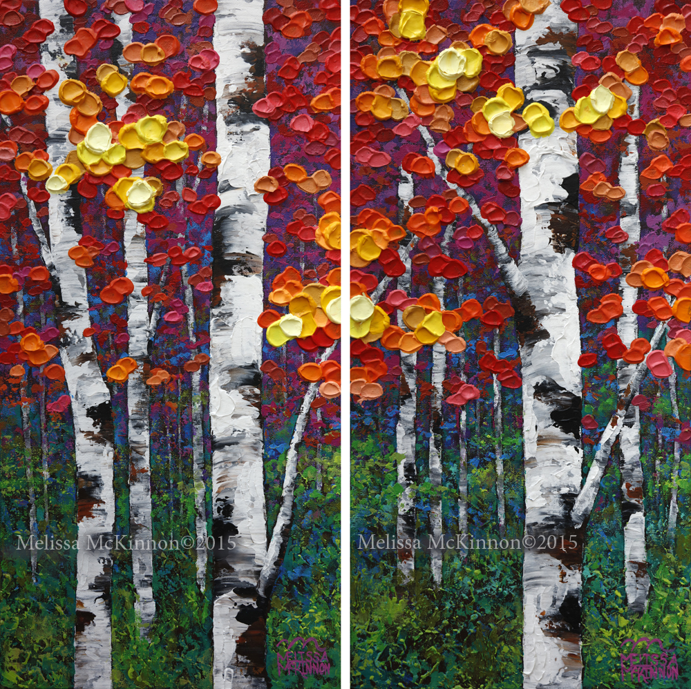 Birch Trees Painting