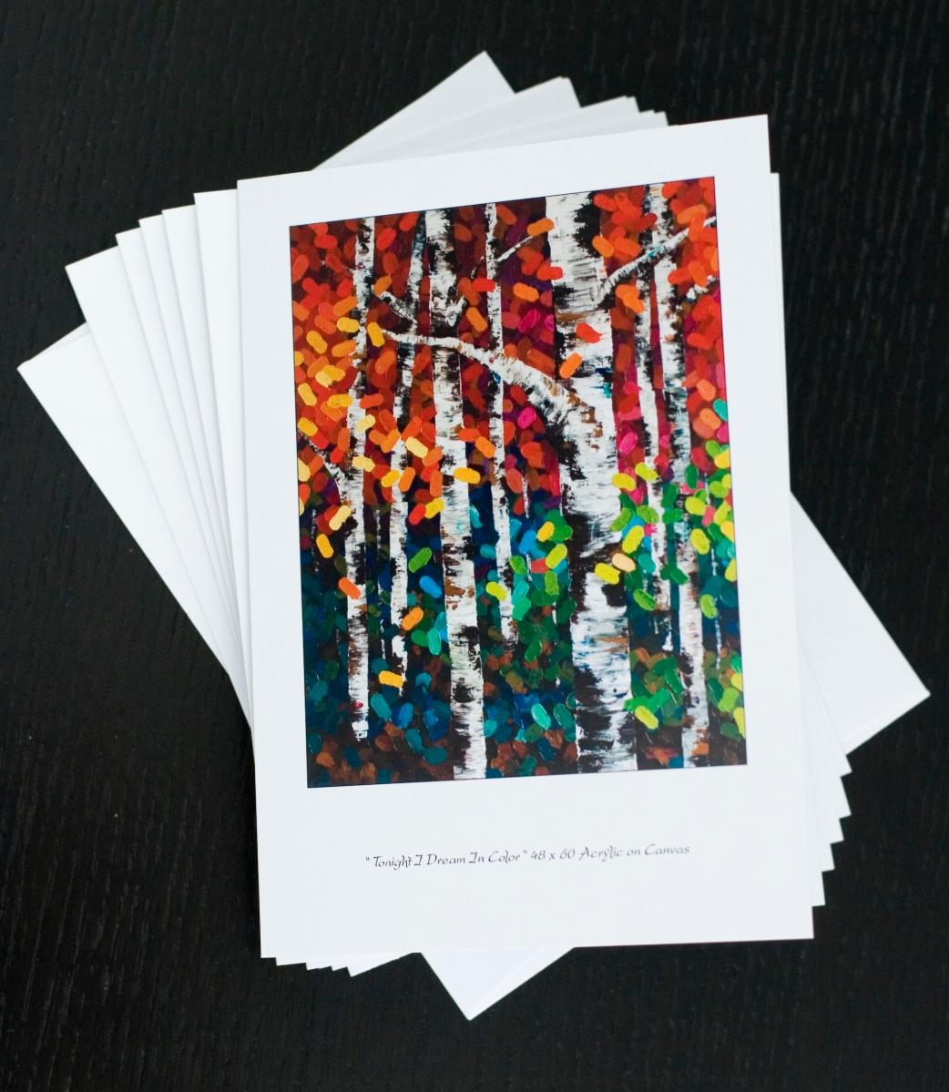 Tonight I Dream In Color 57 Greeting Card Melissa Mckinnon Artist