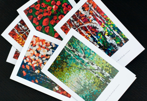 Greeting cards, Artist Greeting Cards, Blank cards, Thank you cards, Blank Greeting cards, Blank thank you cards, Holiday greeting cards, Custom Greeting Cards, Tree Greeting Cards, Aspen Tree Greeting Cards, Poppy Greeting Cards, Flower Greeting Cards, Birch Tree Greeting Cards, Colourful Greeting Cards, Painting Fine Art Greeting card, Calgary artist, Canadian artist, Alberta Landscape Artist, Contemporary Alberta Artist,Calgary painter,Alberta Landscape Painting, Calgary paintings, Birch Tree Painting, Birch Tree Paintings, Aspen Tree Painting, Aspen Tree Paintings, Calgary Fine Art, Calgary, Alberta, Canada, Canadian Rocky Mountains, Banff, Canmore, Lake Louise, Red Deer, Edmonton, Victoria, Vancouver, Winnipeg, Regina, Montreal, Toronto, Halifax, Ottawa, Aspen, Colorado, local artist, original paintings, landscape paintings, acrylic paintings, birch tree acrylic paintings, tree paintings, aspen tree acrylic paintings, abstract paintings, abstract, modern, contemporary, fine art, art, art gallery, contemporary landscape painting, contemporary landscape artist, contemporary art, contemporary painting, aspen artist, Melissa Mckinnon, Aspen paintings, Aspen tree forest painting, Autumn Aspen trees, spring aspen birch trees, summer aspen birch trees, winter aspen trees, summer, spring, fall, autumn, winter, Aspen forest, Aspen landscape, Aspen tree art, Aspen tree artist, Autumn Aspens, Autumn birches, Aspens, Autumn leaves, Birches, big paintings, large paintings, impasto, thick paint, paintings with texture, palette knife, birch art, birch paintings, landscape painting commission, Painting Commission, Aspen fine art, red painting, aqua, teal, turquoise, yellow painting, gold, green painting, black and white, fuschia, brown painting, orange, blue painting, black, white, bright colors, bright painting, colorful painting, colourful, warm colors, cool colors, paintings for sale, home decor trends, art gallery, art exhibit, new paintings, art shows, custom paintings, painting commission, paintings for sale, art prints, art reproductions, giclee prints, greeting cards, art greeting cards, custom painting, custom greeting cards, aspen birch tree greeting cards.