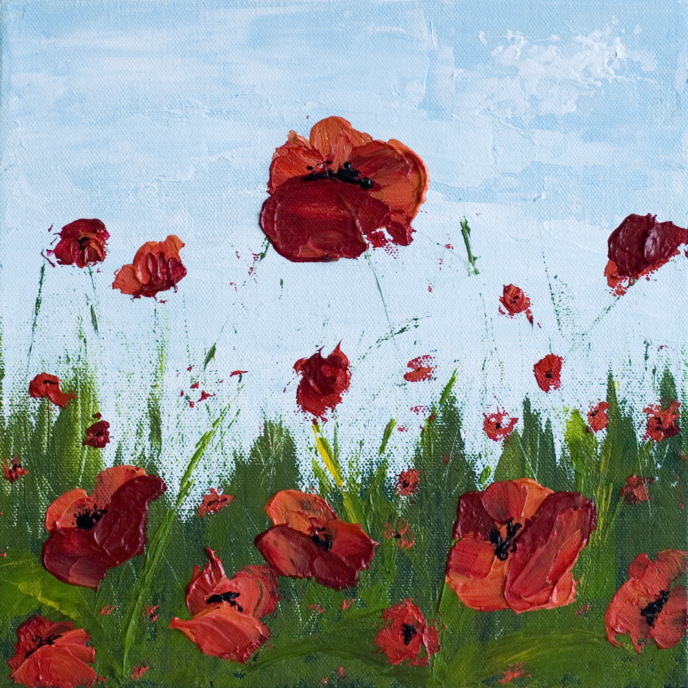 Gratitude 10 x 10 poppy field acrylic painting on canvas gratitude 10 x 10 poppy field acrylic painting on canvas mightylinksfo