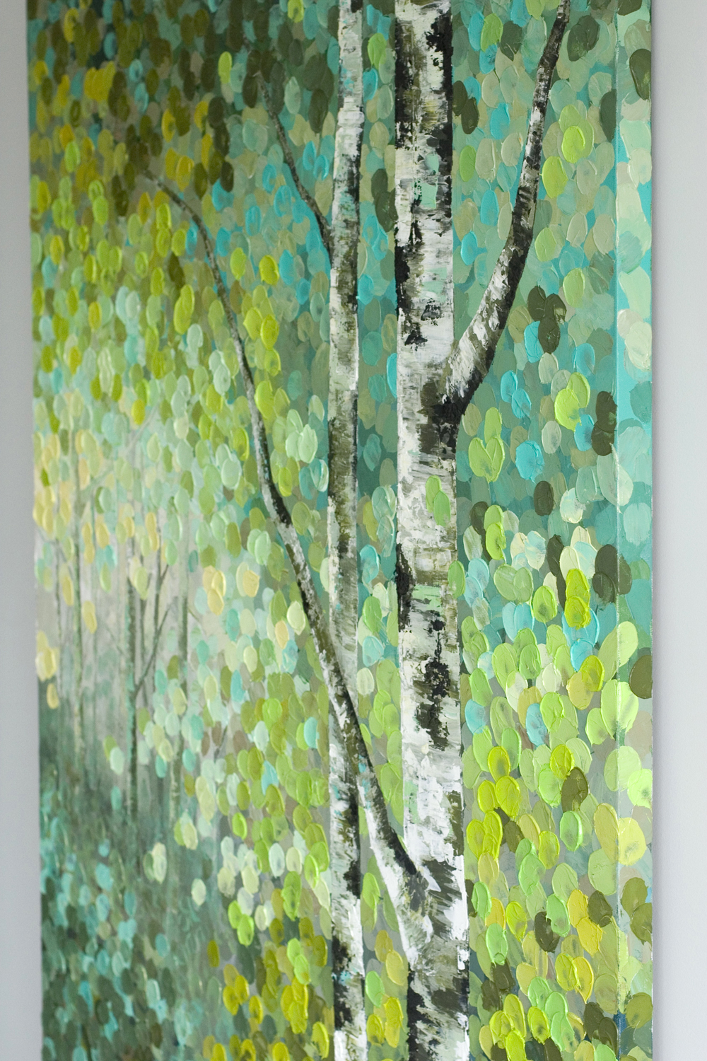 Colorful Birch Tree Paintings