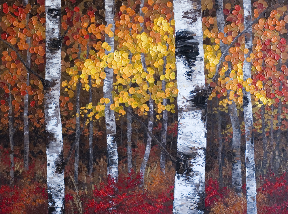 Autumn Fall Tree Painting, Top artist to collect, Most Collected Canadian Artist, Top 40 Under 40, Alberta contemporary artist, collecting contemporary art, Alberta contemporary painter, paintings of trees, colorful tree paintings, acrylic tree forest painting, aspen tree forest, acrylic impasto painting, paintings with bright color, colourful landscape paintings, vivid colour contemporary art, contemporary art, colorful art, Calgary artist, Canadian artist, Alberta Landscape Artist, Contemporary Alberta Artist,Calgary painter,Alberta Landscape Painting, Calgary paintings, Birch Tree Painting, Birch Tree Paintings, Aspen Tree Painting, Aspen Tree Paintings, Calgary Fine Art, Calgary, Alberta, Canada, Canadian Rocky Mountains, Banff, Canmore, Lake Louise, Red Deer, Edmonton, Victoria, Vancouver, Winnipeg, Regina, Montreal, Toronto, Halifax, Ottawa, Aspen, Colorado, local artist, original paintings, landscape paintings, acrylic paintings, birch tree acrylic paintings, tree paintings, aspen tree acrylic paintings, abstract paintings, abstract, modern, contemporary, fine art, art, art gallery, contemporary landscape painting, contemporary landscape artist, contemporary art, contemporary painting, aspen artist, Melissa Mckinnon, Aspen paintings, Aspen tree forest painting, Autumn Aspen trees, spring aspen birch trees, summer aspen birch trees, winter aspen trees, summer, spring, fall, autumn, winter, Aspen forest, Aspen landscape, Aspen tree art, Aspen tree artist, Autumn Aspens, Autumn birches, Aspens, Autumn leaves, Birches, big paintings, large paintings, impasto, thick paint, paintings with texture, palette knife, birch art, birch paintings, landscape painting commission, Painting Commission, Aspen fine art, red painting, aqua, teal, turquoise, yellow painting, gold, green painting, black and white, fuschia, brown painting, orange, blue painting, black, white, bright colors, bright painting, colorful painting, colourful, warm colors, cool colors, paintings for sale, home decor trends, art gallery, art exhibit, new paintings, art shows, custom paintings, painting commission, paintings for sale, art prints, art reproductions, giclee prints, greeting cards, art greeting cards, custom painting, custom greeting cards, aspen birch tree greeting cards.