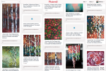 pinterest artist, pinterest art, pinterest paintings, birch trees, aspen trees, autumn leaves, fall colors, autumn forest, poppy painting, how to paint tutorial