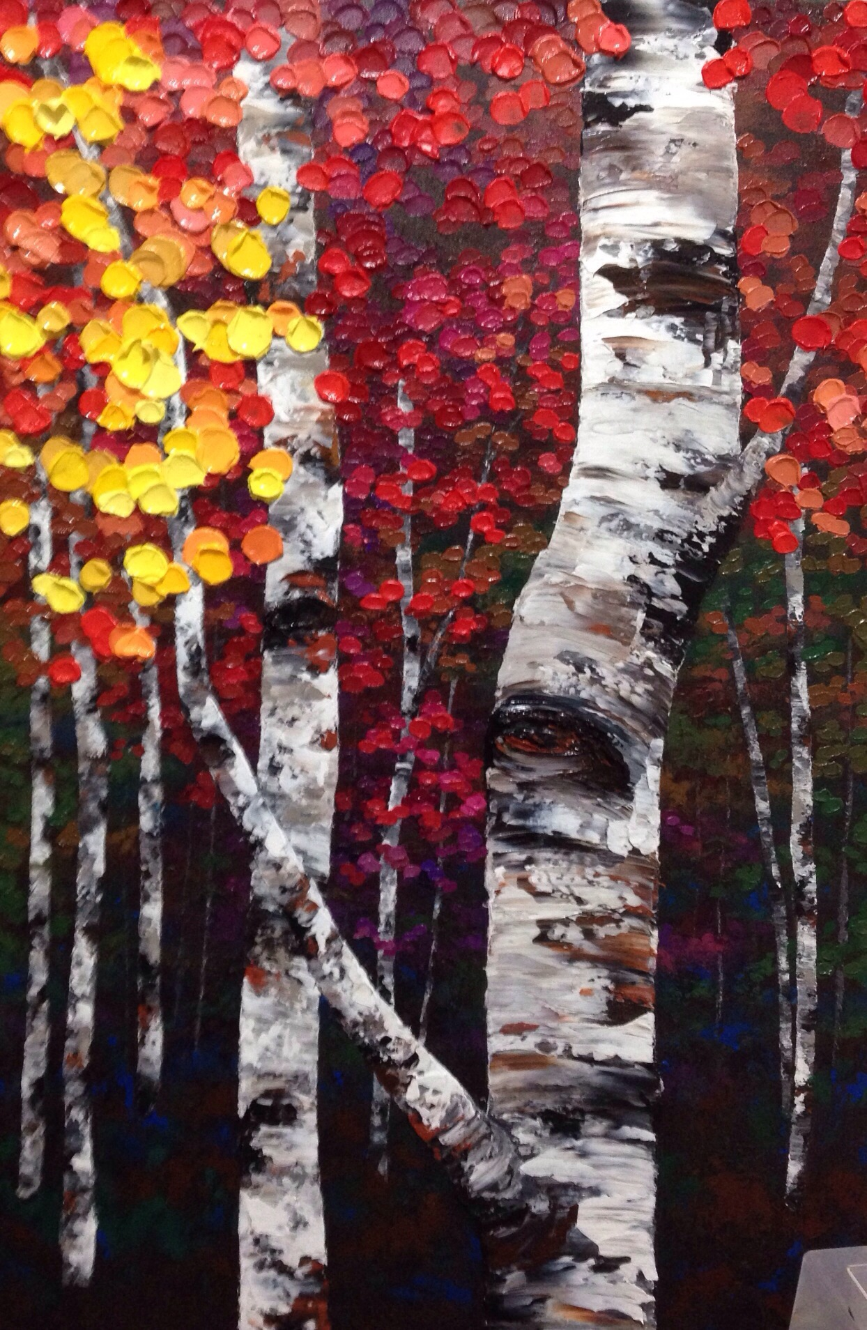 Colorful Autum Trees To Paint