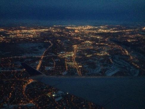 flying, airplane, travel, Calgary, YYC, SanFrancisco, SFO, night, Lights, city skyline, Calgary Artist, International artist,