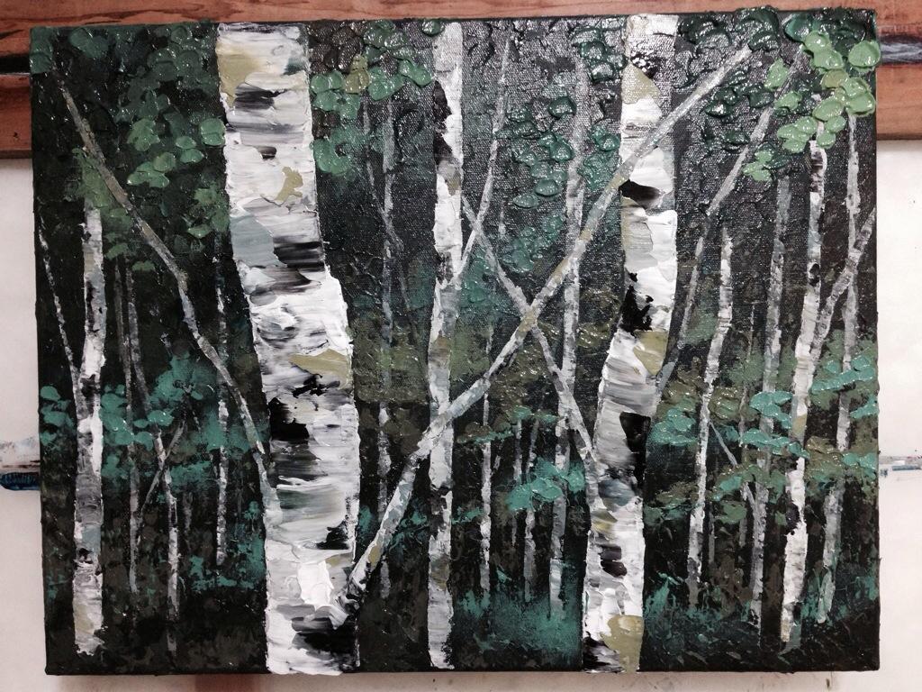 Tree Painting Aspen Birch Forest Jpg Melissa Mckinnon