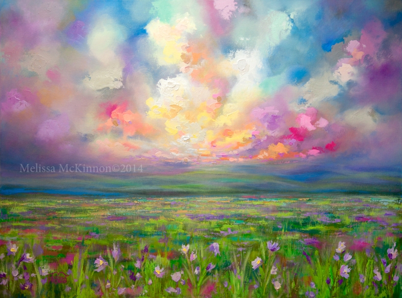 New Colourful Prairie Landscape Painting By Alberta Artist