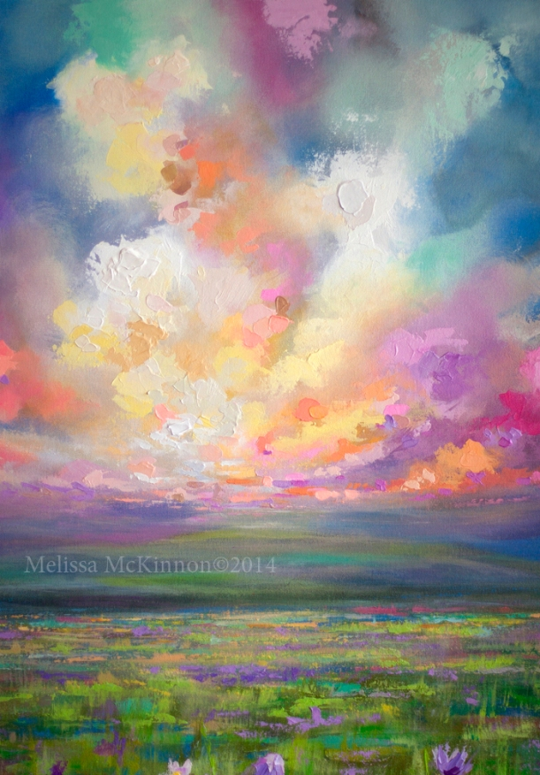 Mountains melissa mckinnon artist for Abstract nature painting
