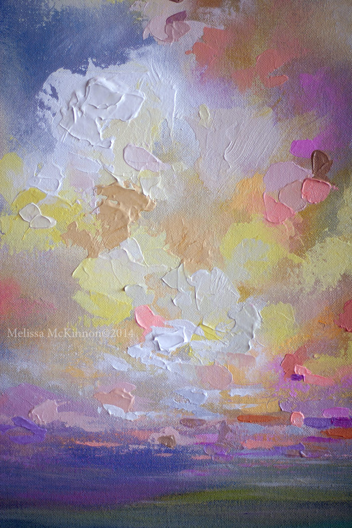 Colourful Contemporary Abstract Landscape Painting By Canadian Artist Painter Melissa Mckinnon