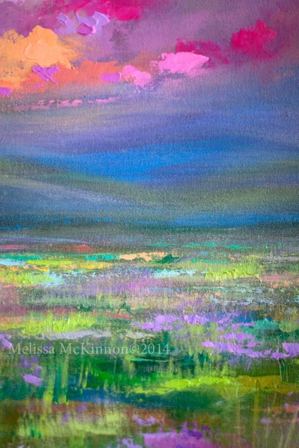 Abstract Landscape Sky Painting Prairie Alberta Art Western