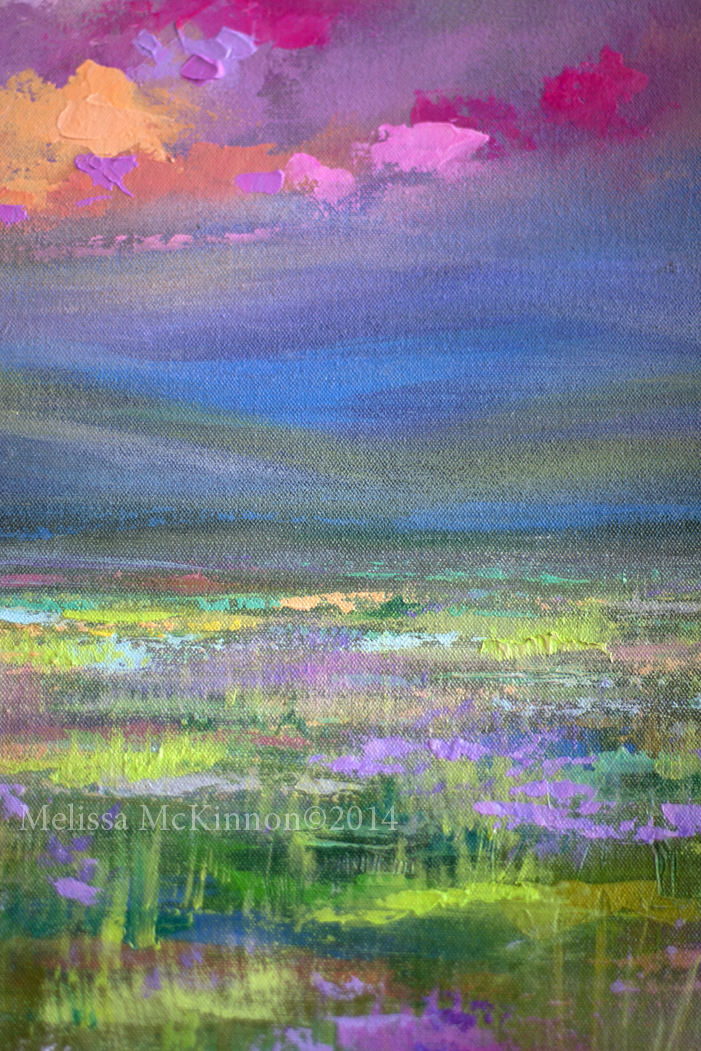 Colourful Prairie and Big Sky Abstract Landscape Painting ...
