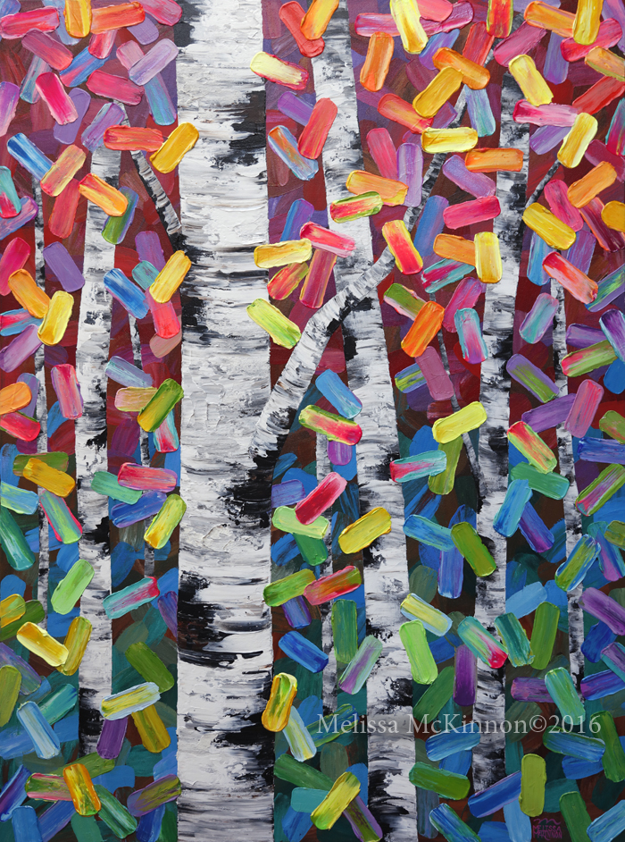 Colourful Aspen Trees Birch Tree Forest Nature