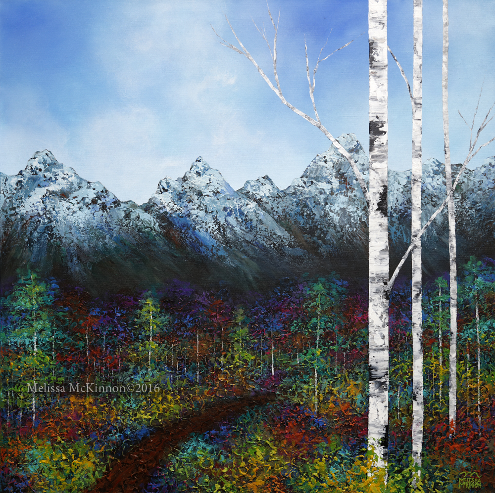 Majestic Mountains New Paintings By Canadian Contemporary Artist Melissa Mckinnon Melissa