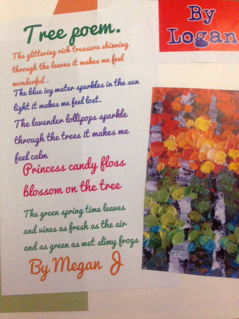 Poetry inspired by their tree paintings.