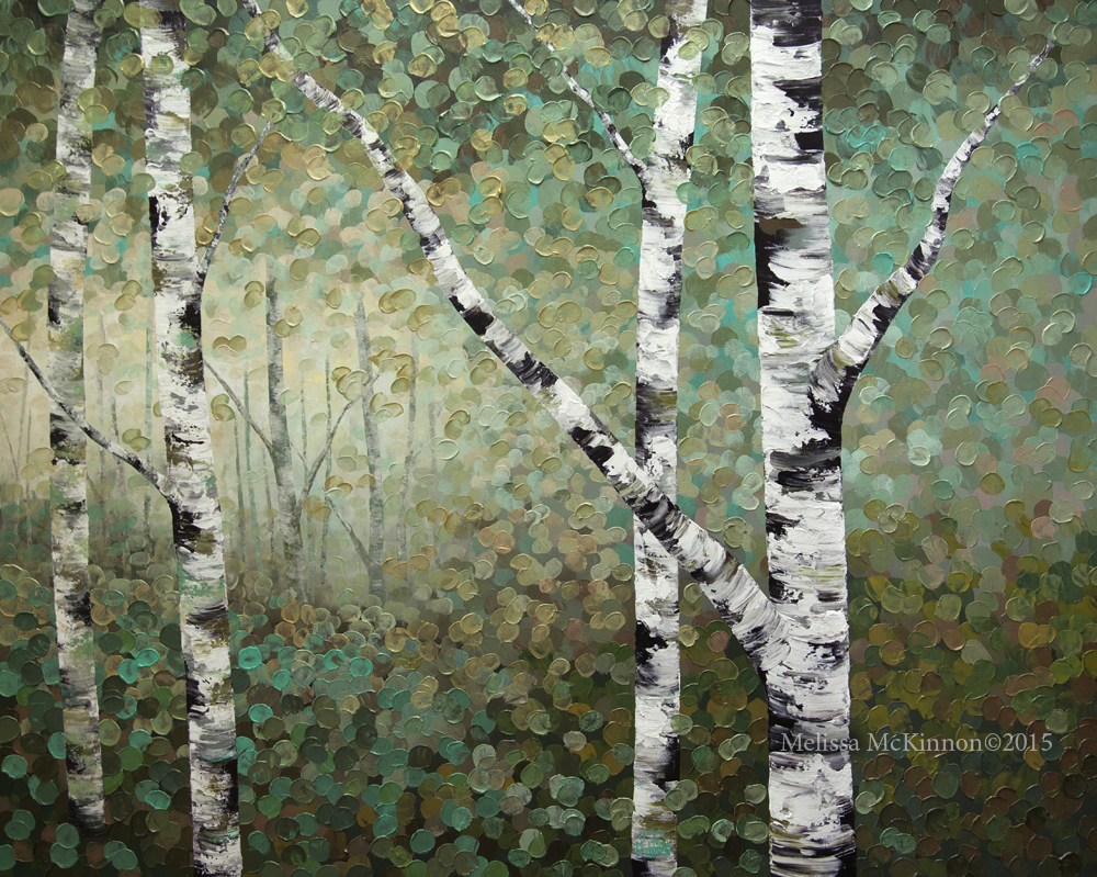 aspen and birch trees melissa mckinnon artist
