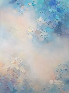 Abstract painting of clouds and sky Giclee art print on canvas by contemporary abstract artist Melissa McKinnon painted with palette knife and impasto texture - Morning Glow Study
